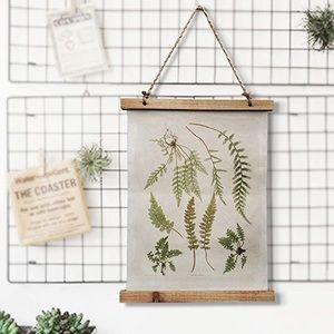 Boho Vintage Style Wall Scroll Plant Botanical NWT